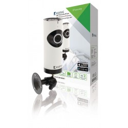Konig HD IP Camera 1280x720 Panorama White/Black