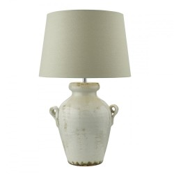 Dar Ravenna Table Lamp Antique Cream With Shade