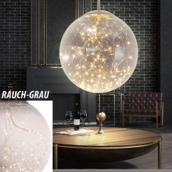 Nino Leuchten 34153002 LED Glass Sphere Pendant Light - Smoke Grey
