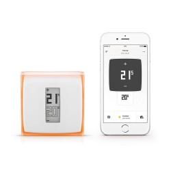 Netatmo by Starck, Smart Thermostat Works With Alexa, Google, Siri