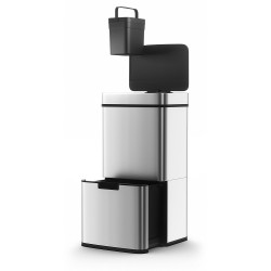 Morphy Richards Pro Recycling Sensor Bin Two Compartments, S. Steel, 75 Litre