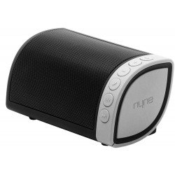 Nyne Cruiser Bluetooth Speaker + Bike/Buggy Attachments For Music On The Move - Black/Silver