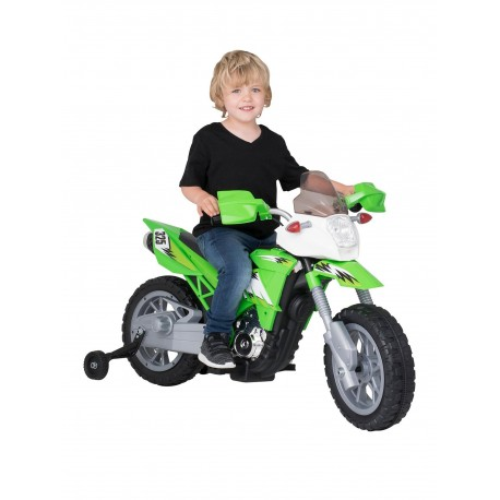 Brand New Kids 6V Motocross Trails Bike With Removable Stabilisers