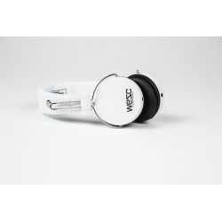 NEW WeSC M-30 Over Ear Wired Headphones With Gold Plated Connectors  - White