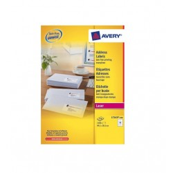 Avery Address Labels L7163 - 99.1mm x 38.1mm 14 Labels Per A4 Sheet, 100 Sheets