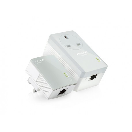 TP Link AV600 2 Port Powerline Booster Adapter AC Passthrough 600MBPS TL-PA4016P