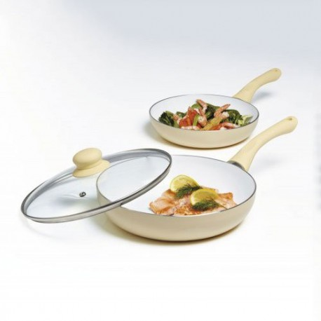 Cermalon 3 Pcs Frying Pan Set