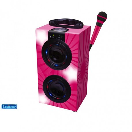 Portable Karaoke Machine With Microphone In Black
