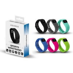 Aquarius Sports Activity Tracker Watch Water Resistant iOS/Android App - Black