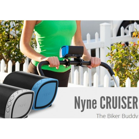 Nyne Cruiser Portable Bluetooth Speaker, Rechargeable - Black/Silver Sealed BNIB