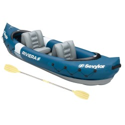 Sevylor Riviera 2 Person Kayak - Paddles, Pump, Backpack System, - RRP £229