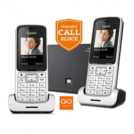 Siemens Gigaset SL450 A DUO GO Twin Pack, Colour Screen, Nuisance Call Block