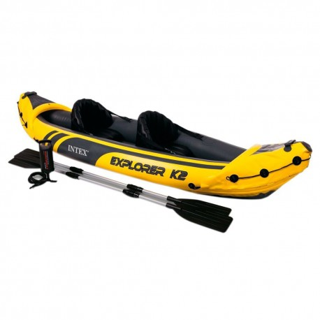 Intex Explorer K2 Inflatable Kayak - 2 Person, Includes Paddles