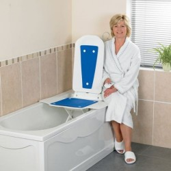 Patterson Medical Bathlift Bathmaster Deltis with Cover, Blue (No VAT)