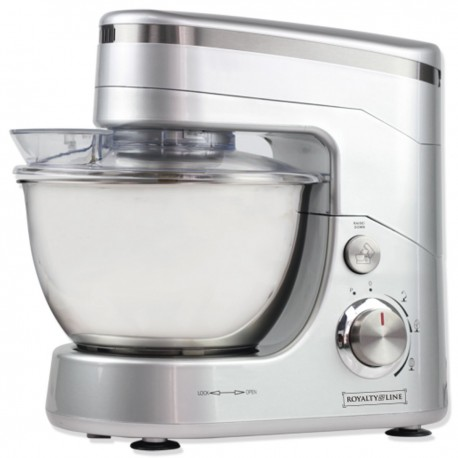 Royalty Line 1400w Stand Mixer 3 Speed + Pulse, 4.5 litre SS bowl and 3 Atts.