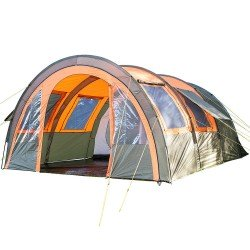 SKANDIKA KEMI 4 Person Tunnel Tent Olive/Orange
