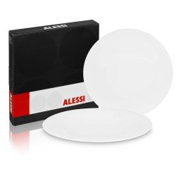 Alessi KU Designer Set 2 x 27 cm Dinner Plates Designed by Toyo Ito