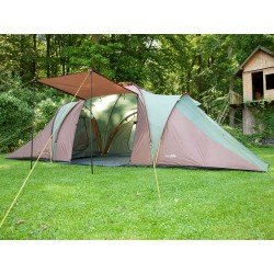 SKANDIKA Daytona XXL 6 Person Tent with Groundsheet, 2 Sleeping Pods, 2 Sun Porch