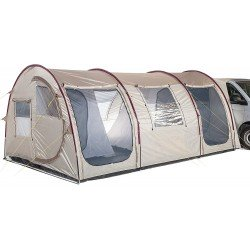Skandika Esbjerg Travel Tent - 4 Person, Sand/Red