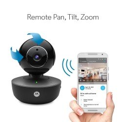 Motorola Focus 88 Rechargeable Portable Wi-Fi HD Pan/Tilt Home Monitor, Black