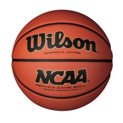 Wilson Basketball NCAA Replica Game Ball - Brown, Size 7